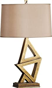 Murray Feiss 10018FG Xenia 1 Light Table Lamp with 3-Way Switch, Firenze Gold