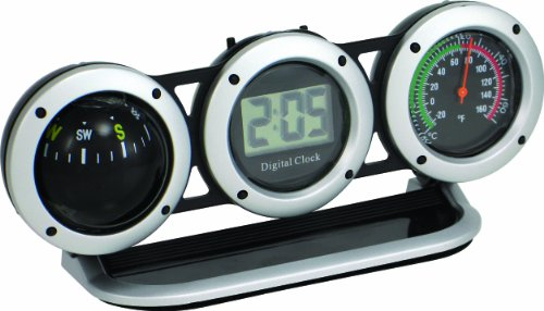 Bell Automotive 22-1-29015-8 Combo Clock, Compass and Thermometer (Automotive Clock compare prices)