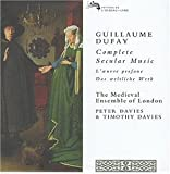 Amazon.com: Guillaume Dufay: Complete Secular Music - The Medieval ...