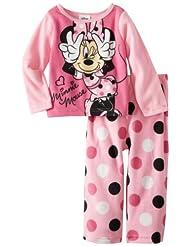 Minnie Mouse Girls 2-6X Minne 2 Piece Fleece Pajama Set
