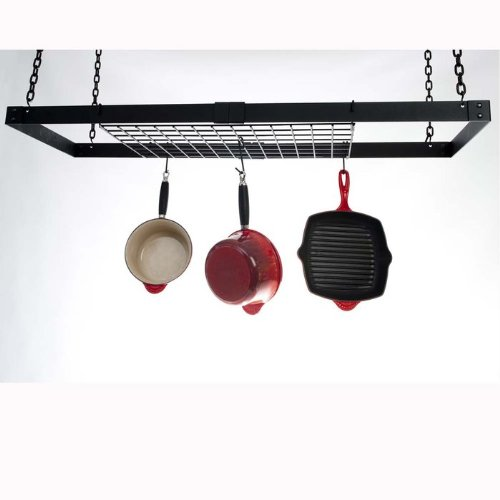 Cheap Expandable Rectangle Hanging Pot Rack (B007VAHI98)