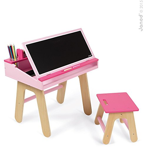 Janod Desk & Chair, Pink (Alex Tabletop compare prices)