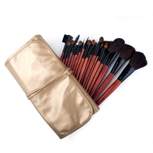 ALICE 18 Piece Makeup Brush Set and Case, For