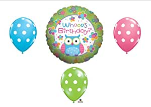 Whooo's Birthday OWL PARTY Balloons Decorations Supplies Teen Girl