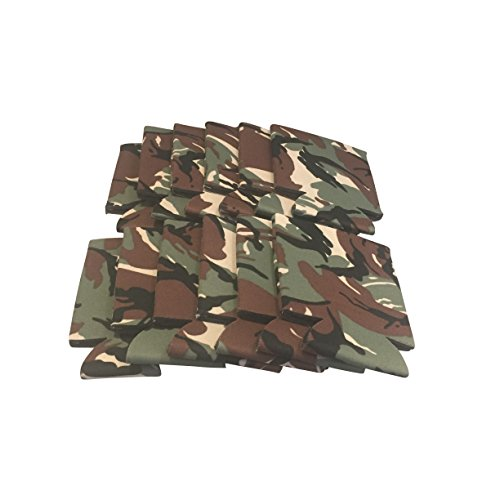 CSBD Beer Can Coolers Soft Drink Collapsible Insulator Coolers Bulk, Several Colors and Quantities (12, Camo) (Camo Can Koozie compare prices)