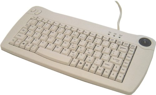 Ack-5010uw - Keyboard - Qwerty - Trackball - Cable - Usb - White
