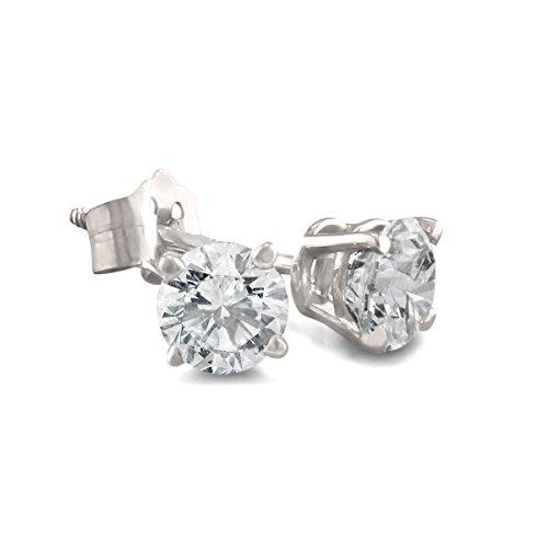 14K White Gold Diamond Stud Earrings (1/2 Ctw.) As Seen On Dr. Phil