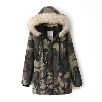 hopegarden camo jacke damen camouflage mantel damen. Black Bedroom Furniture Sets. Home Design Ideas