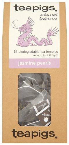 Teapigs Jasmine Pearls Tea 37.5 g (Pack of 1, Total 15 Tea Bags)