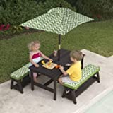 Kidkraft Fun in the Sun Table and Benches with Umbrella