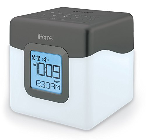 iHome iBT28GC Bluetooth Color Changing Dual Alarm Clock (Certified Refurbished)