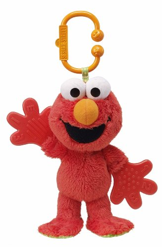 Sesame Street Teether Baby Rattle Toy