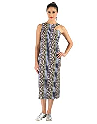 Vinegar Women's Blue Polyester Dress