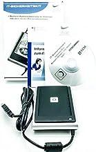 SCM SDI011 - Lector de tarjetas de interfaz dual para tarjetas sin chip y con chip (DNI, tarjetas bancarias, etc.), con certificación BSI