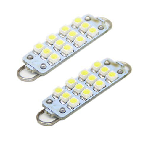 Generic 44Mm 211-2 212-2 214-2 578 8-Smd-1210 Rigid Loop Led Bulbs For Door Lights Color White