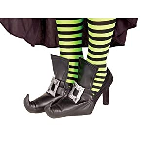 Womens Funky Witch Costume Shoe Covers by Forum Novelties Inc