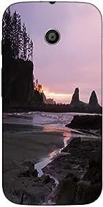 Snoogg Ocean Sunset Background Designer Protective Back Case Cover For Motoro...
