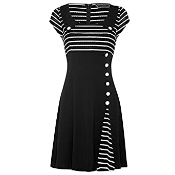 Voodoo Vixen Retro 50s Marine Kleid - Vintage Sailor Nancy ...