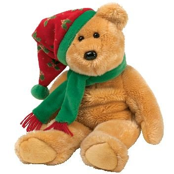 TY Beanie Buddy - 2003 HOLIDAY TEDDY - 1