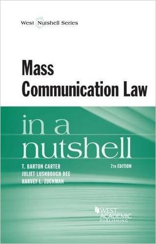 Mass Communication Law in a Nutshell