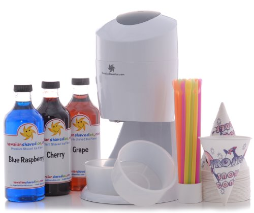 Read About Hawaiian Shaved Ice and Snow Cone Machine Party Package