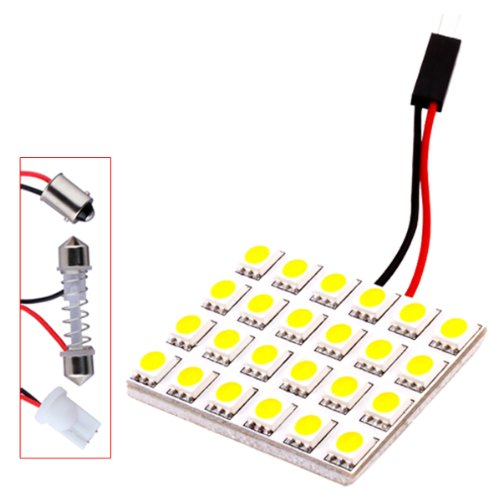 S&D 24 Smd 5050 Warm White Light Panel T10 Ba9S Festoon Dome Led Interior Bulb
