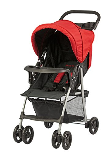 Dream On Me Jupiter Stroller, Black and Red, Small - 1