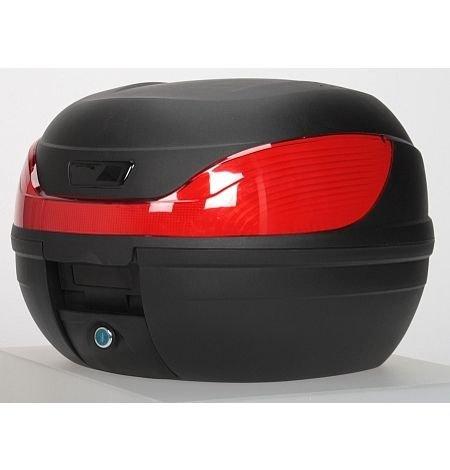 abnehmbar - TopCase, Motorradkoffer - matt, schwarz - für Roller und Motorrad -
