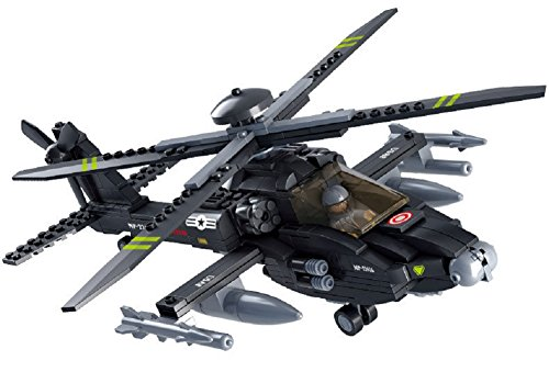OliaDesign Black Hawk Helicopter Building Blocks Set (293 Piece)