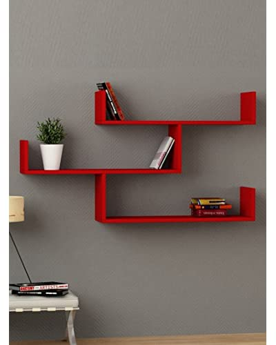 Decortie by Homemania Estante Tibet Rojo