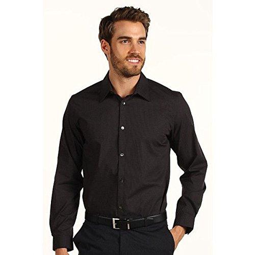 (カルバンクライン) Calvin Klein メンズ トップス 長袖シャツ L/S Mini Check Poplin Woven Shirt 並行輸入品