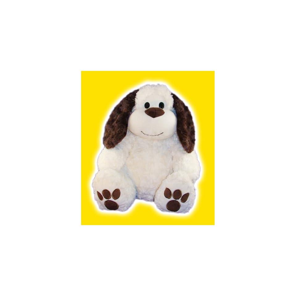 15 White Floppy Eared Dog Make Your Own No Sew Stuffed Animal Kit