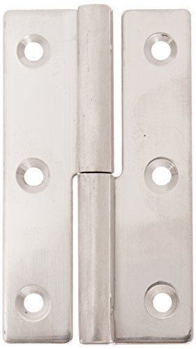 Sugatsune KN-64L/SS Lift Off Hinge, Stainless Steel 304, Polished Finish, Left Handedness, 1.5mm Leaf Thickness, 36mm Open Width, 7.5mm Pin Diameter