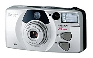Canon Sure Shot 85 Platinum Zoom Date 35mm Camera Kit (includes strap, case, film and battery)