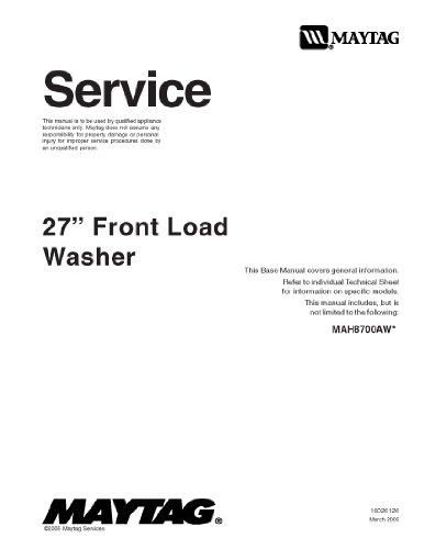 Maytag Mah8700Aww Service Manual back-24329