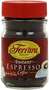 Ferrara Instant Espresso Coffee, 2-Ounce Glass Jars (Pack of 6)