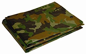 12' x 16' Dry Top Camouflage 7-mil Poly Tarp item #412161