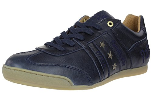 Pantofola d' Oro Ascoli Piceno Low Men Sneaker blue uni leather, Schuhgröße:EUR 41