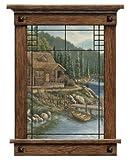 Arts & Crafts Window - Cabin Scenic Peel & Stick Wall Mural