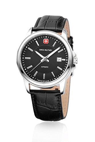 Swiss Military Montre pour homme Automatic Montre bracelet 03-12967JBK. DH Swiss Made Automatique Boîtier en acier inoxydable Bracelet Cuir Cadran Noir