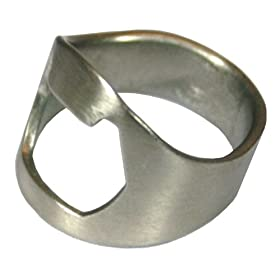 Ring Thing Bottle Opener: Stainless Steel