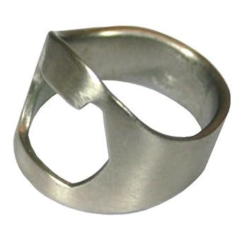 Ring Thing Bottle Opener, Stainless Steel, Size 10 (Medium)