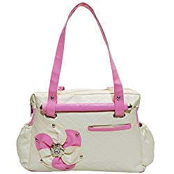 Frenchxd Maria Jones Fancy Stylish Handbag For Women (Beige)