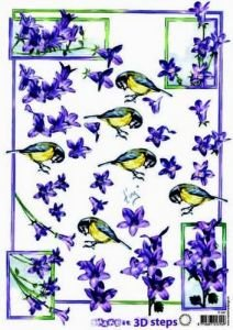 "Marianne Design SHAKE it 3D-Schneidebogen 3D steps IT437, ""Blaumeise, Glockenblumen"""