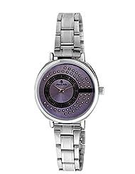 Franck Bella Wedding Series Diamond Studed Dial Analog Purple Dial Women's Watch-FB0142B