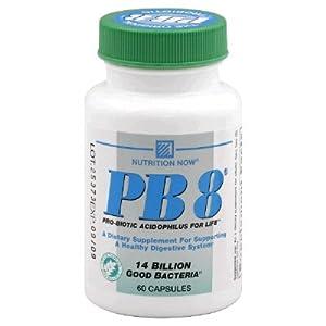 Now PB 8 Pro-Biotic Acidophilus Tablets, Vegetarian, 60 Count