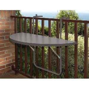 Alco R-29GG Balkonhängetisch, Stahlrohruntergestell, kunststoffbeschichtete Platte anthrazit, 100 x 50 cm von Alco - Gartenmöbel von Du und Dein Garten