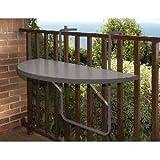 Alco, R-29GG, Tavolino da balcone, da appendere alla ringhiera, Supporto in acciaio, Ripiano in plastica, 100 x 50 cm, Grigio (anthrazit)
