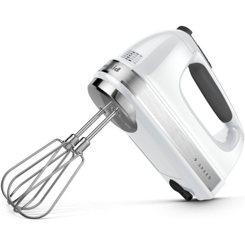 KitchenAid KHM920A 9-Speed Digital Display Hand Mixer- With (Free Dough hooks, whisk, milk shake liquid blender rod attachment and accessory bag) (Hand Mixer Digital compare prices)