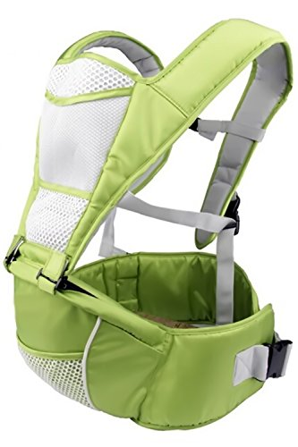 Baby Carrier with Hip Seat from Nimnyk Child Carriers Lumbar Support Hipseat Sling Backpack (Green)